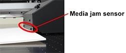 Media jam sensor