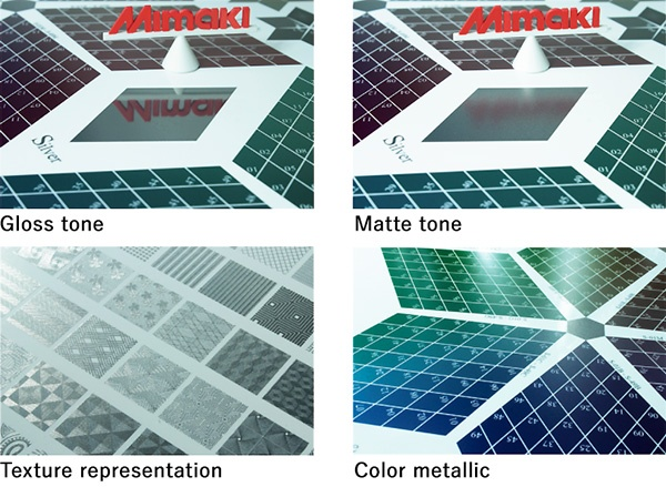 Gloss tone, Matte tone, Texture representation, Color metallic