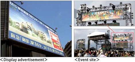Display advertisement, Event site