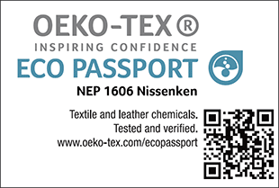[ECO PASSPORT] Certification label No. NEP 1606