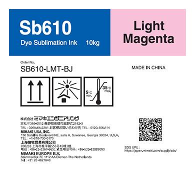 SB610-LMT-BJ Sb610 Dye sublimation ink tank Light Magenta T