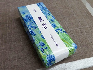 Originally developed box of incense sticks