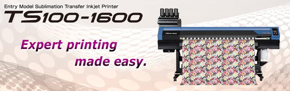 TS100-1600 | Entry Model Sublimation Transfer Inkjet Printer for Textile Application
